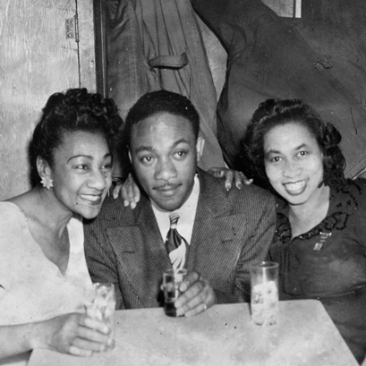 From left to right: Alberta Hunter, blues singer and songwriter; J.C. Higginbotham, jazz trombonist, and Lil Hardin, jazz trombonist. (Photos snagged from Internet and Chris Albertson Collection).